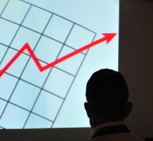 右上がりのグラフ