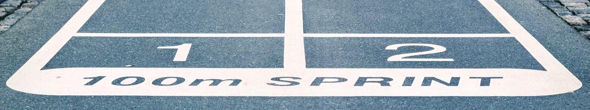 100メートル走 スタートライン